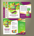 flyer for sales promotion brochure vector image