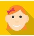 Girl icon flat style vector image