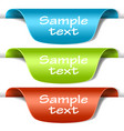 set of multicolored tag labels vector image