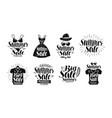 summer sale label set fashion boutique clothes vector image