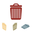 Trash icon set Isometric vector image
