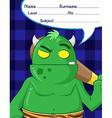 troll demon cartoons vector image