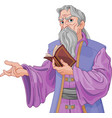 wizard with book vector image