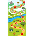 cartoon game level map template vector image