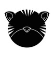 cute tiger character icon vector image