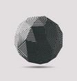 3d abstract polygonal ball vector image