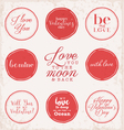 Valentine s Day Vintage Greeting Card Elements vector image