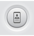 Personal Profile on Phone Icon vector image vector image