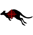 Kangaroo crosslines vector image