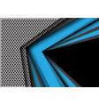 abstract blue gray black arrow circle mesh modern vector image