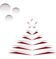 Cet Christmas tree vector image