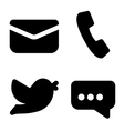 Contact icons vector image
