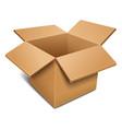 Empty open cardboard box vector image