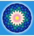 Lotus round mandala vector image