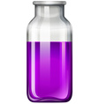 Purple liquid in glass bottle vector image