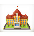 School building cartoon graphic mesh vector image