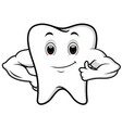 strong tooth cartoon vector image