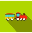 Train in amusement park flat icon vector image