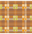 Modern Yellow Plaid Pattern vector image vector image