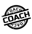 coach rubber stamp vector image