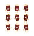 coffee - set of mascot vector image