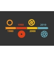 Timeline Infographic Template for Business vector image