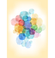 Watercolor splatters background vector image