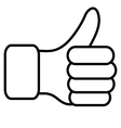 The thumb lifted upwards vector image