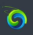 abstract circle grunge logo vector image