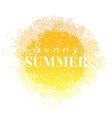 abstract watercolor sunny summer grunge background vector image