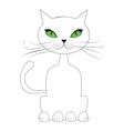 Cartoon cat sit vector image
