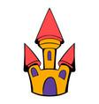 castle icon cartoon vector image