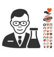 chemist icon with lovely bonus vector image