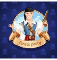Cute pirate Banner for Pirate party vector image