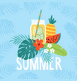 hand drawn summer greeting card invitation with vector image