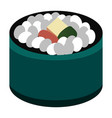 isolated sushi food vector image