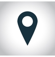 Map marker simple icon vector image