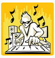Music DJ vector image