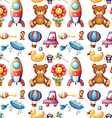 Seamless toys vector image