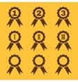 Set of 9 black award icons vector image