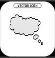think bubble icon vector image
