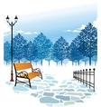 Winter Park Scene vector image