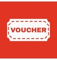The voucher icon Coupon and gift offer discount vector image