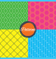 rhombus hexagon and grid with circles textures vector image