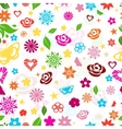 Seamless pattern of multicolored flowers vector image vector image
