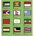 Flags flat set-15 vector image