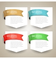 Sale label Blank paper with ribbon design vector image vector image