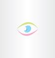 colorful logo abstract human eye icon vector image