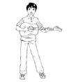 Teen Playing Guitar vector image