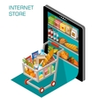 Internet store vector image